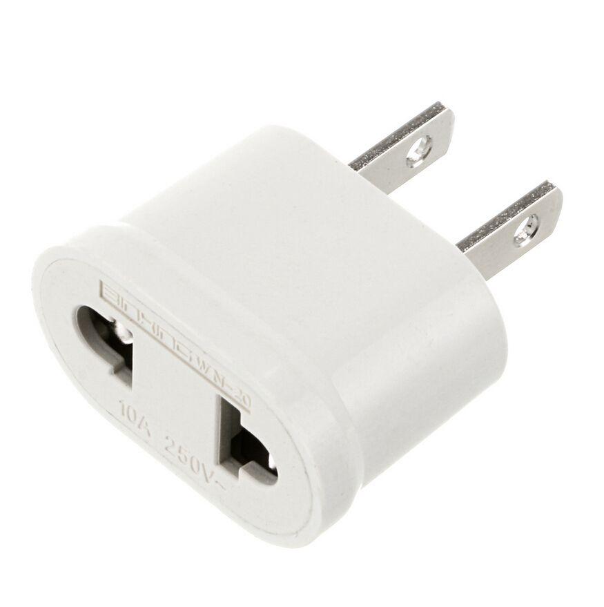 Laagste prijs Plug adapter! wit EUROPESE om AMERIKAANSE USA Travel Adapter Power Converter Muur