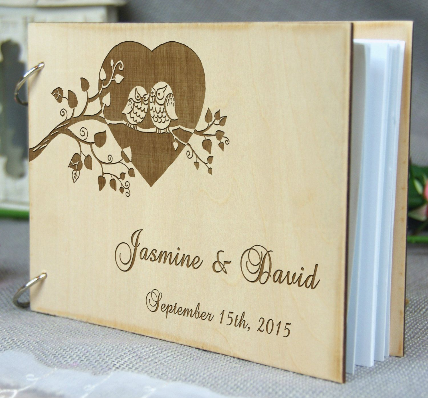 Unique personalized Wedding-Anniversary-Bridal shower guest book ...