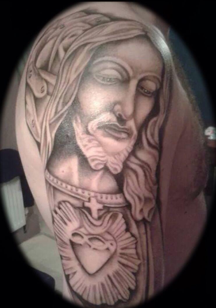 Jesus healed up Jesus heals, Portrait, Tattoos