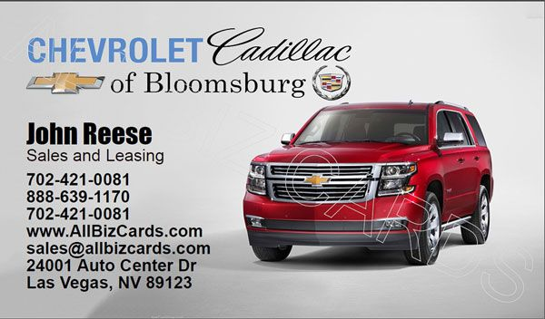 2015 Chevrolet Tahoe Business Card Id 21137 Chevrolet Tahoe Chevrolet