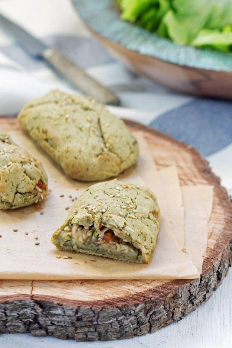 Chaussons sans gluten courgette, tomate et olives (vegan, sans gluten