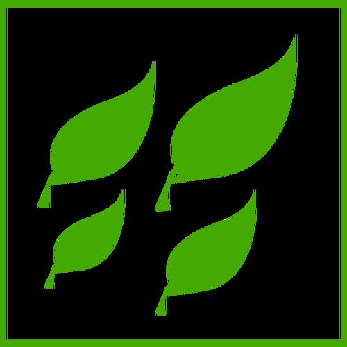 Daun Hijau Eco Icon Vektor Gambar