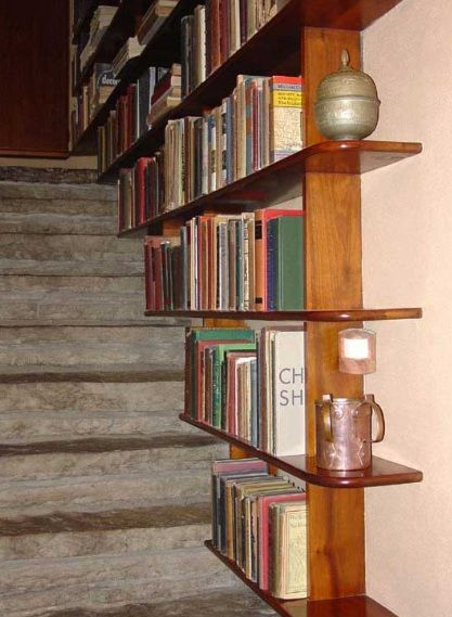 Staircase Shelving staircase shelving idea for small space solution | shelves-storage
