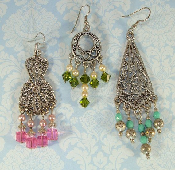 4 Earring Parts Chandelier Connector Components 2 by beadgiant ...