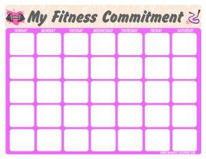 Free printable calendars, has p90x and insanity also premade, just ...