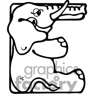Letter e elephant abc creative fun pinterest clip art zoo letter e is for elephant coloring page from learn english alphabet letter is for set i category select from 28356 printable crafts of cartoons nature thecheapjerseys Images