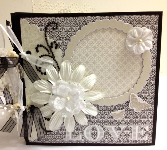 Gifts For Pre Wedding Bride: Pre-made Wedding Scrapbook Mini Album 6x6 By Traci Penrod