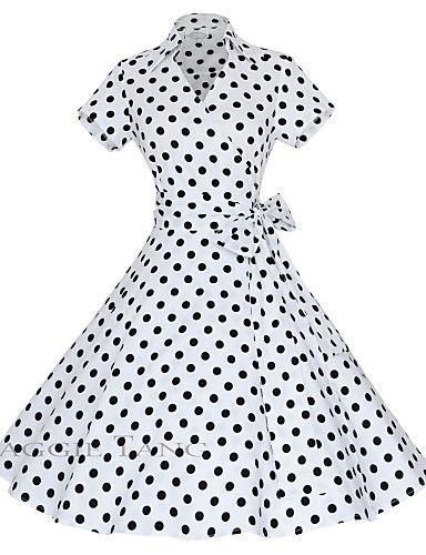 Women's 50s Vintage Cherry Rockabilly Hepburn Pinup Cos Party Parka Business Swing Dress,Plus Size 3898123 2016 – $19.99