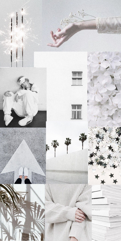 Aesthetic Collage Tumblr White Aesthetic Aestheticallypleasing Chillvibes Dinding Gambar Kertas Dinding Bidang Warna