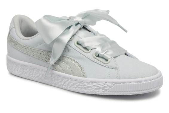 fdbaaadaf893d4 Basket Heart Canvas Wn s Blue Flower-Puma White-Puma Silver ...