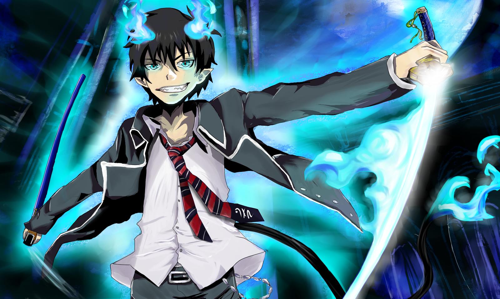blue exorcistRin Okumura strongest anime characters