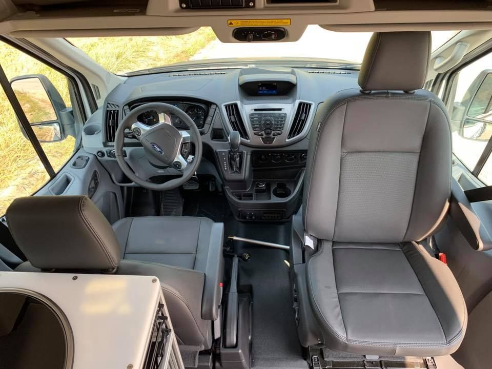 Vandoit Installs A Passenger Swivelseat In Their Vanbuildouts On The Fordtransit 350 Xlt Passengervans A Ford Transit Ford Transit Camper Transit Camper