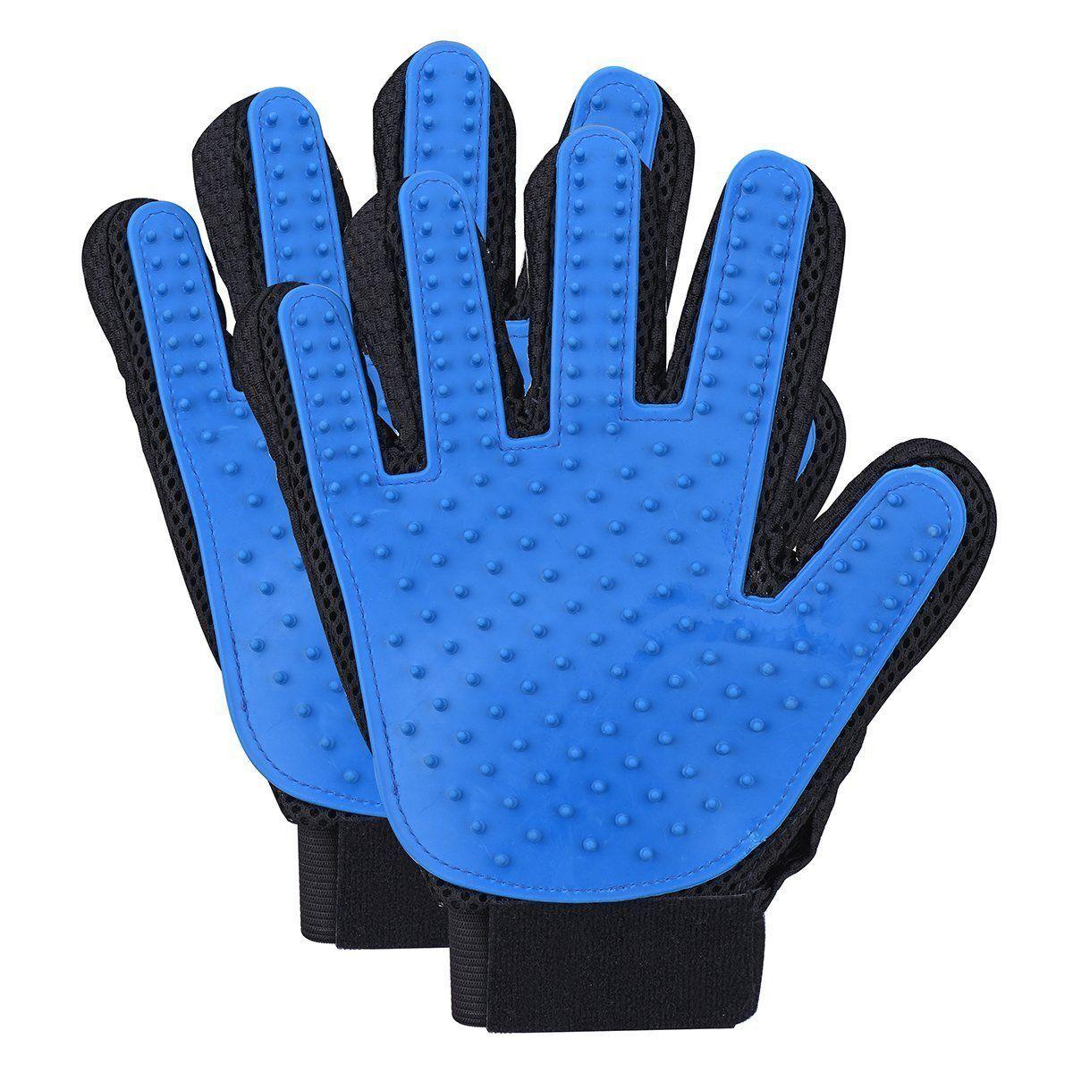 Pack 2 Deshedding Grooming Glove Gentle and Efficient Pet