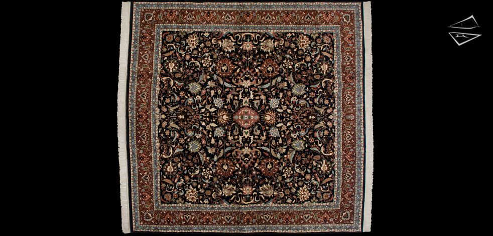 12 12 Kashan Design Square Rug Square Rugs Rugs Rugs On Carpet