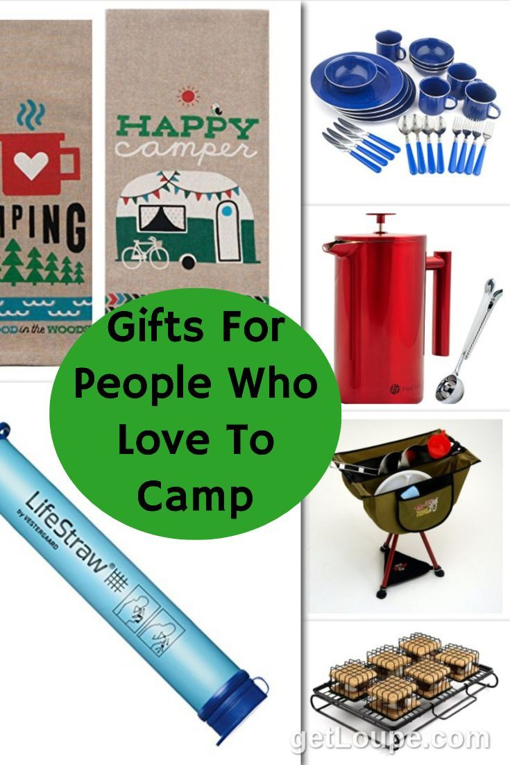 Gifts for the campers in your life. Ideas that will make camping easier and more comfortable. Unique camping accessories. Camping gifts for Dad.