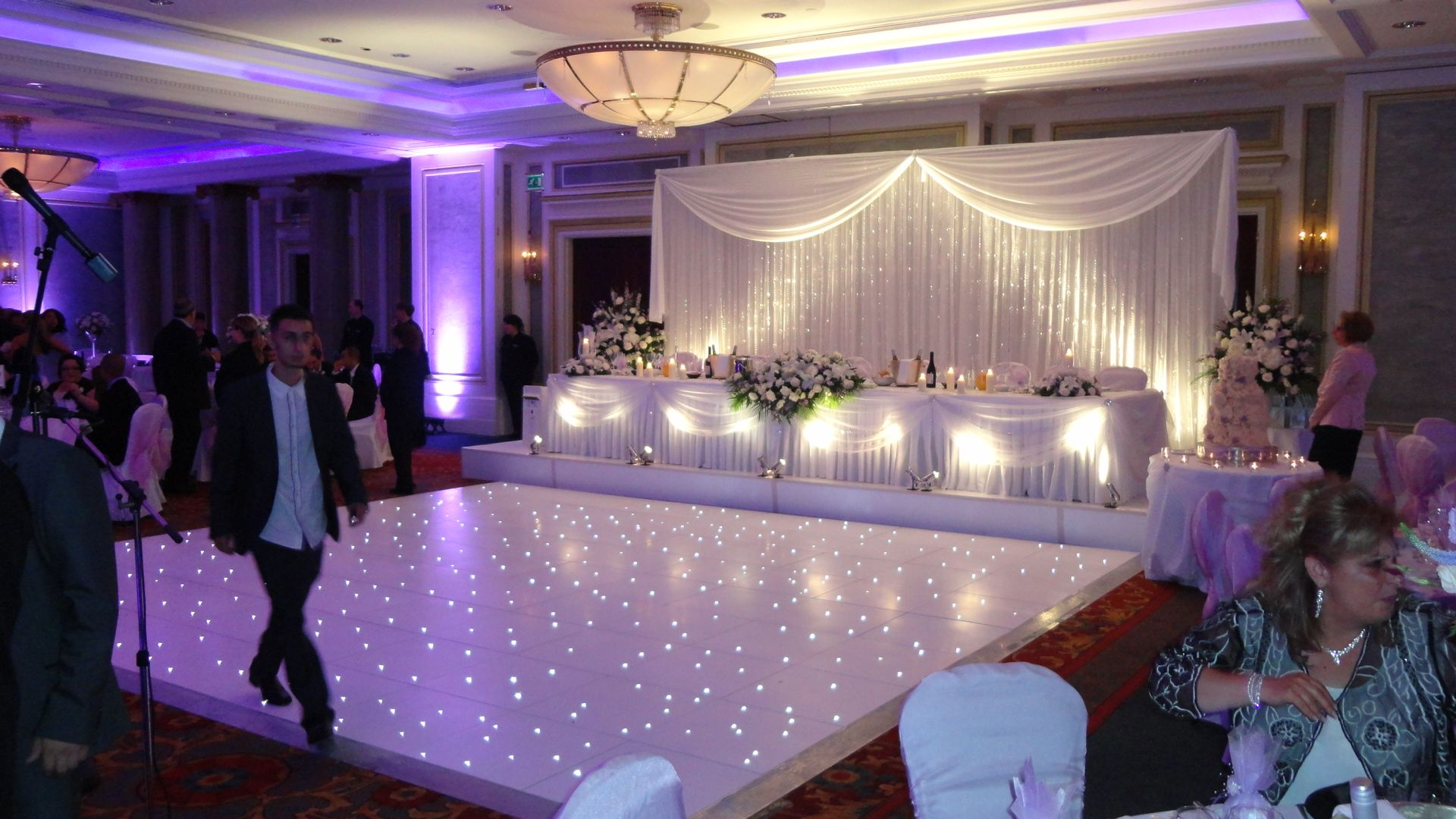 Crystal Wedding Backdrop At The Chancery Court Hotel