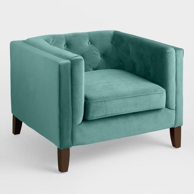 Awe Inspiring Teal Velvet Kendall Chair World Market Donnas Lamtechconsult Wood Chair Design Ideas Lamtechconsultcom