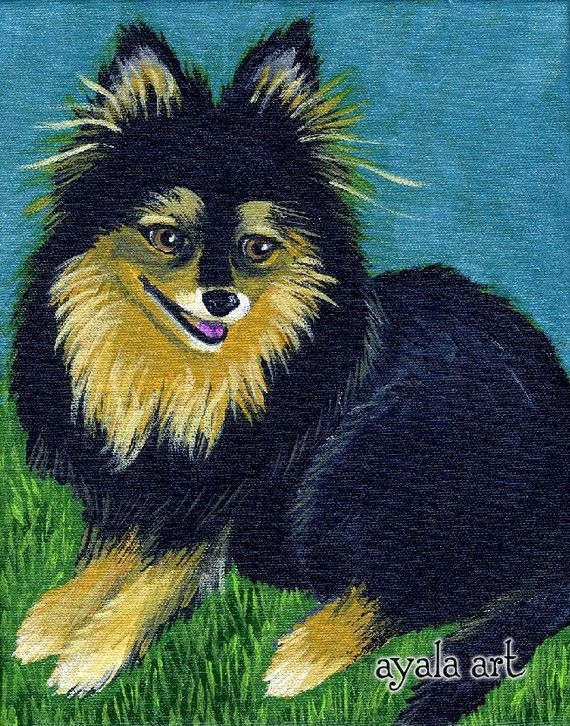 Commissioned Your Pet Custom Painting Acrylics by AyalaArt on Etsy, $80.00