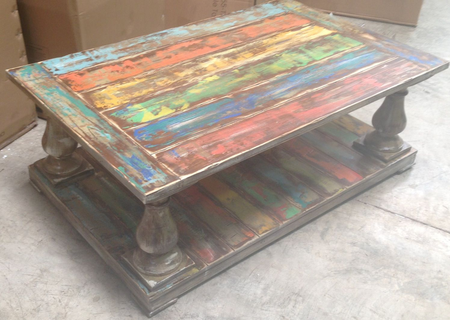 Painted reclaimed wood coffee table brittney english designs hand painted coffee table best painted coffee tables to place on your rooms inspired kitchen designs geotapseo Image collections