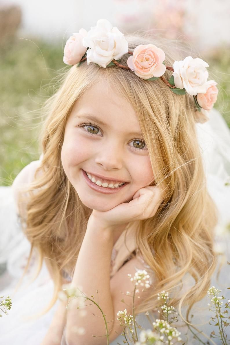 Pink Flower Crown Rose Floral Crown Flower Girl Halo | Etsy