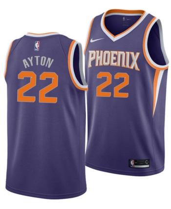 9f714cc6bd9 Nike Men s Deandre Ayton Phoenix Suns Icon Swingman Jersey - Purple S
