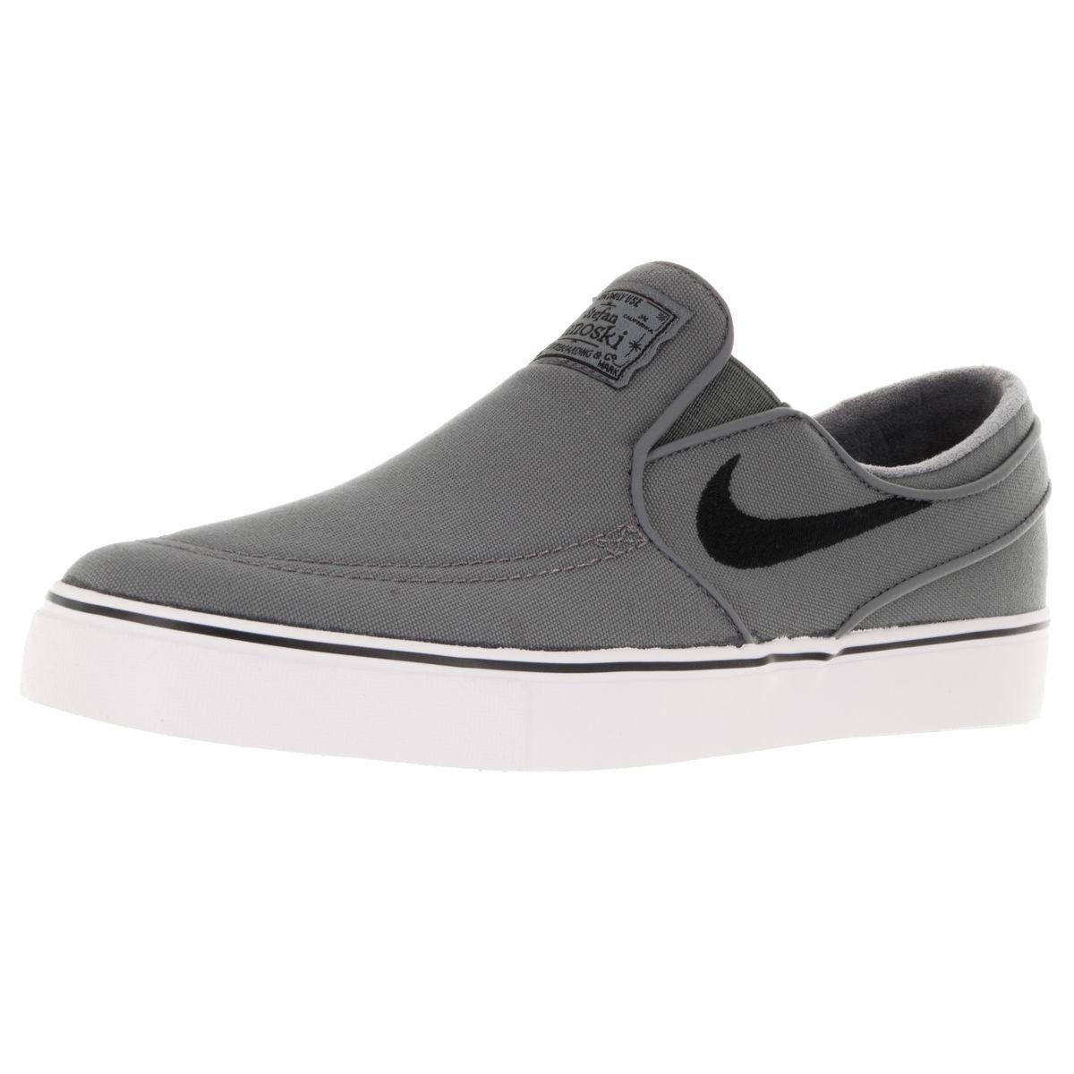 Nike SB Zoom Stefan Janoski Canvas Sneakers - Men's Size 11.5 Gray/White
