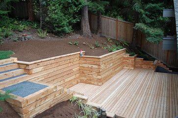 Retaining Wall Ideas Landscape Timber Retaining Walls Design