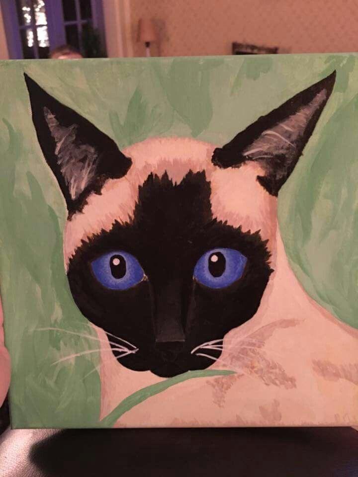Siamese cat, acrylic on canvas. Dec. 2016