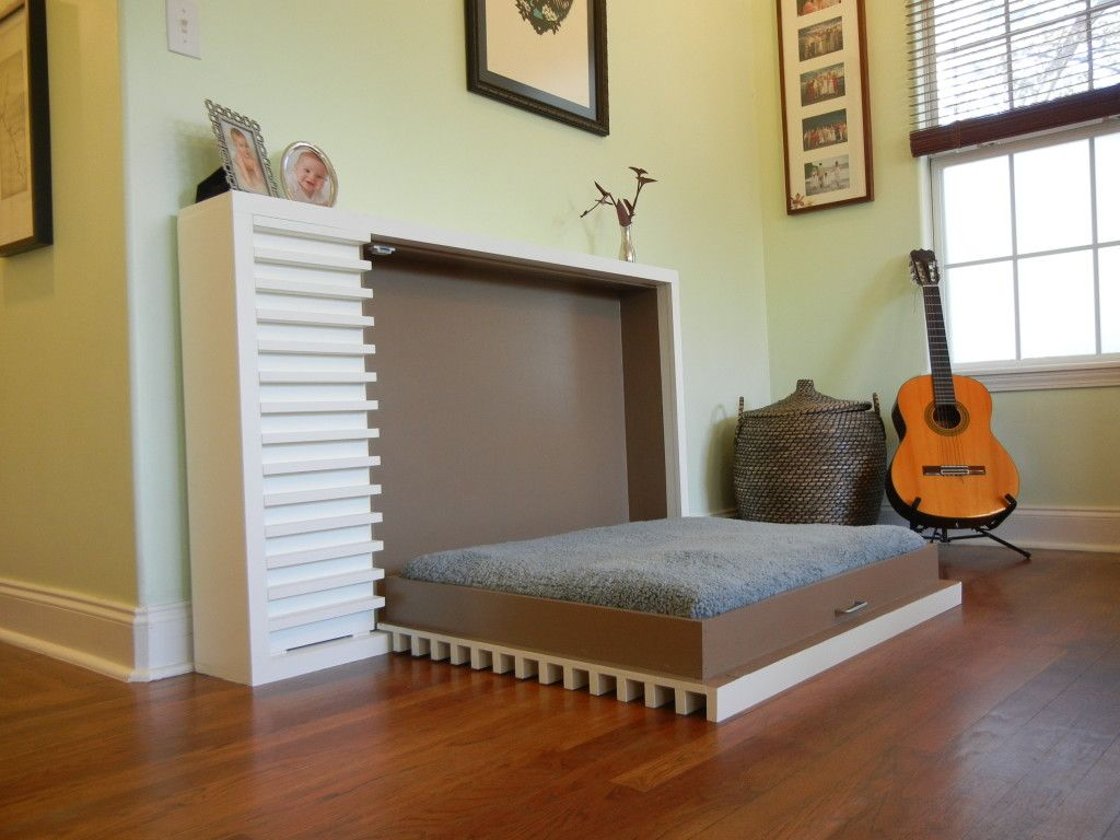 Bedroom Wall Bed Space Saving Furniture For Unit Idea With Built In Armoire And Wood Floors Ikea Murphy Kit Shelves Twin