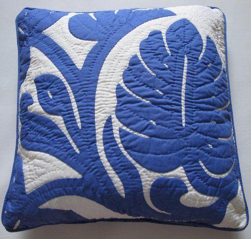 2 Hawaiian Quilt Pillow Covers, Cushions, 100% Hand Quilted/hand ... : hawaiian quilt pillow covers - Adamdwight.com