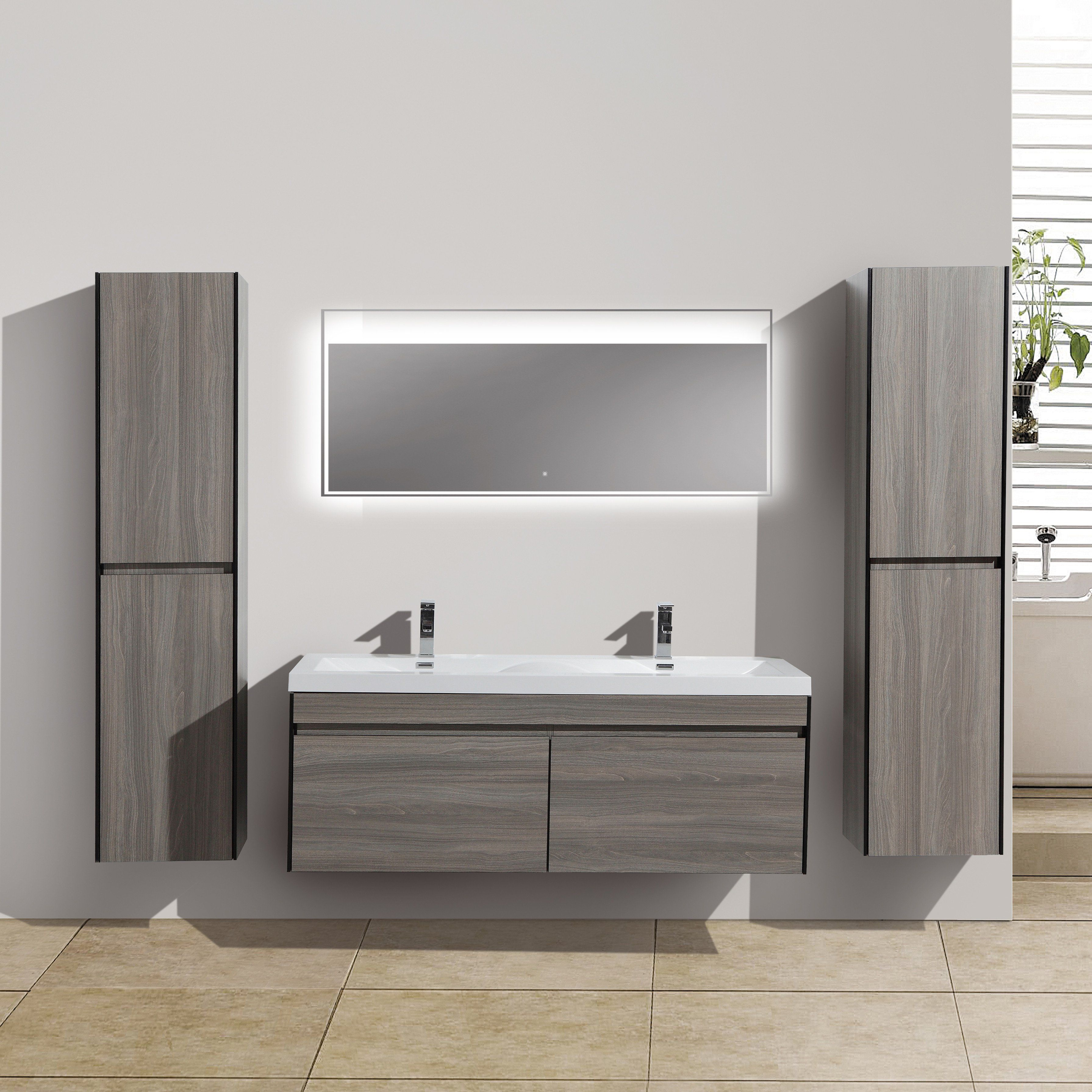 "LED Vanity Mirror / 57"" Slim design and energy efficient ..."