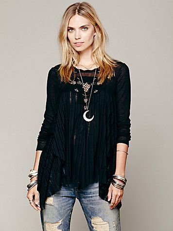 Free People Hannah's Tiered Top