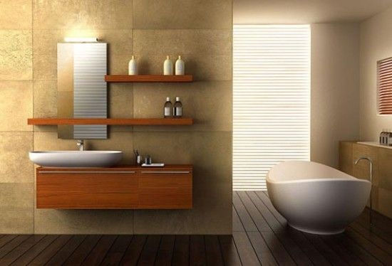 Bathroom with Minimalist Decorating Ideas