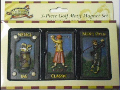 Wonderful Golf 3 Piece Magnet Set Great Gift Item!