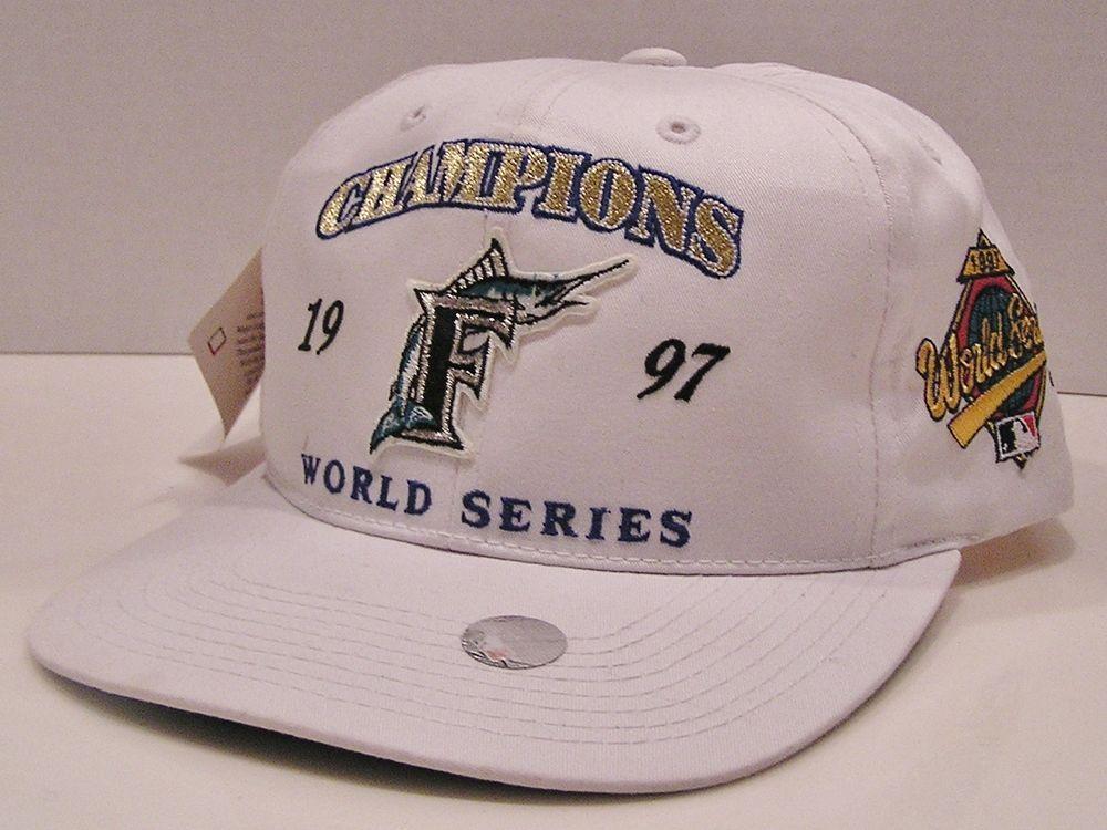 d95e1e82c4093 Florida Marlins 1997 World Series Champs Vintage 90 s Signatures Snapback  Hat  Signatures  FloridaMarlins