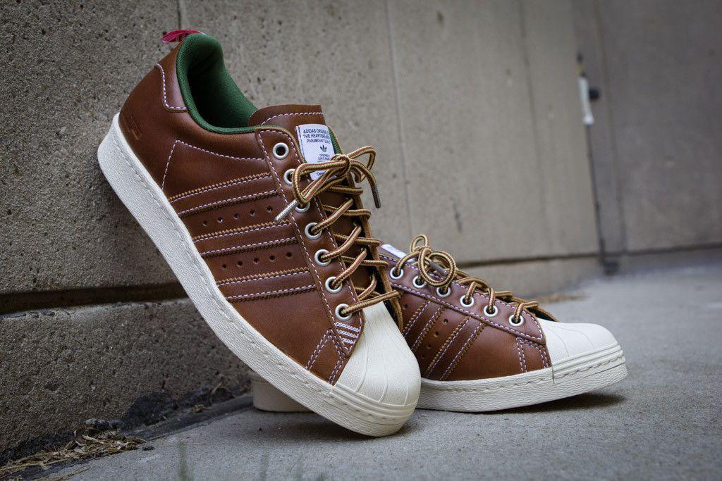 adidas superstar brown green