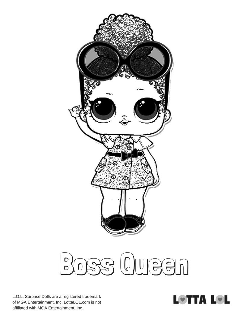 Boss Queen Coloring Page Lotta Lol Mandala Coloring Pages Coloring Pages Kids Printable Coloring Pages