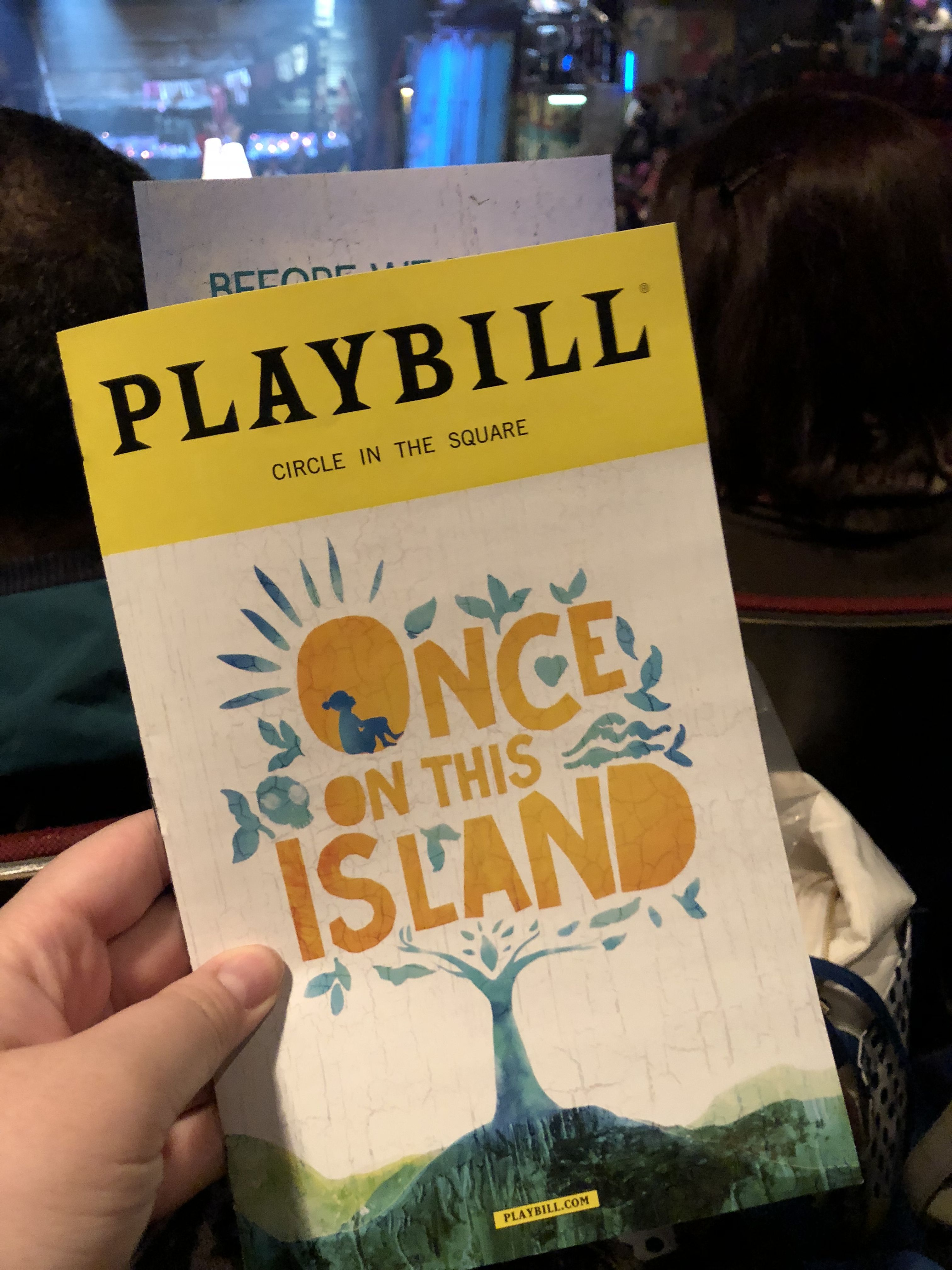 Once on this island (January 2018) Playbill, Island