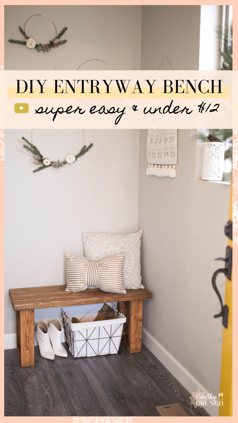 Pleasant Make This Gorgeous Diy Entryway Bench For Under 12 For Machost Co Dining Chair Design Ideas Machostcouk