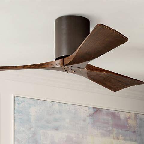 42 Matthews Irene 3 Blade Walnut Bronze Hugger Ceiling Fan 7c839 Lamps Plus