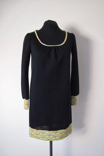 Miss Steek maakte een Shelly: fijn patroon, ik maakte hem wat langer voor een tuniek/ sweaterdress