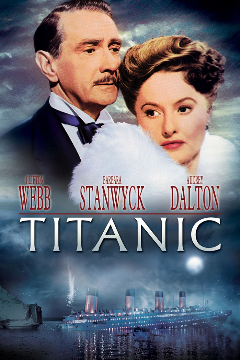 Image result for robert wagner and barbara stanwyck in titanic