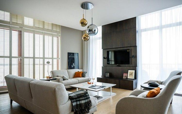 Écran plat mural – une option élégante pour le salon moderne | Salon ...