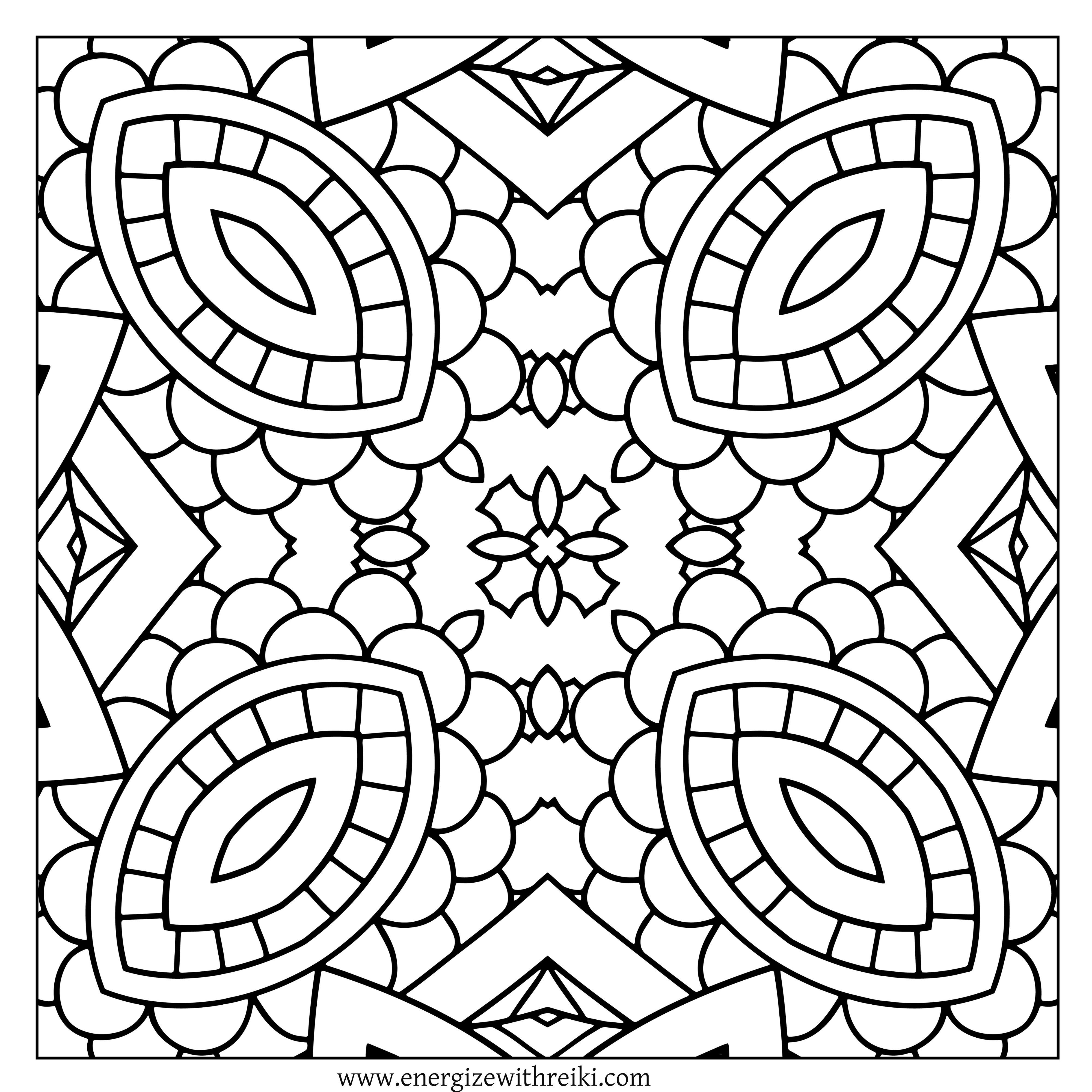 Diamond Shaped Kaleidoscope Eyes Free Adult Coloring Page