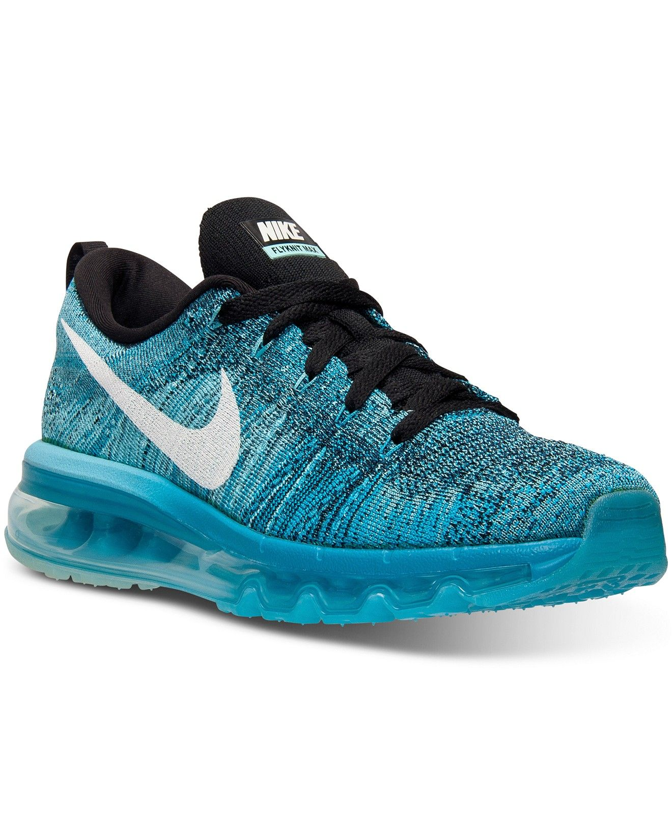 1449d16a4fea Nike Women s Flyknit Air Max Running Sneakers from Finish Line - Finish Line  Athletic Shoes - Shoes - Macy s