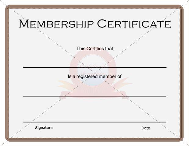 Membership Certificate Membership Certificate Template Pinterest