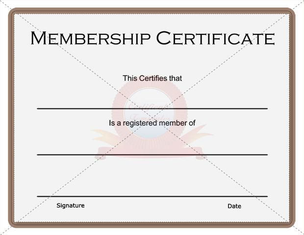 Membership Certificate Membership Certificate Template - membership certificate templates