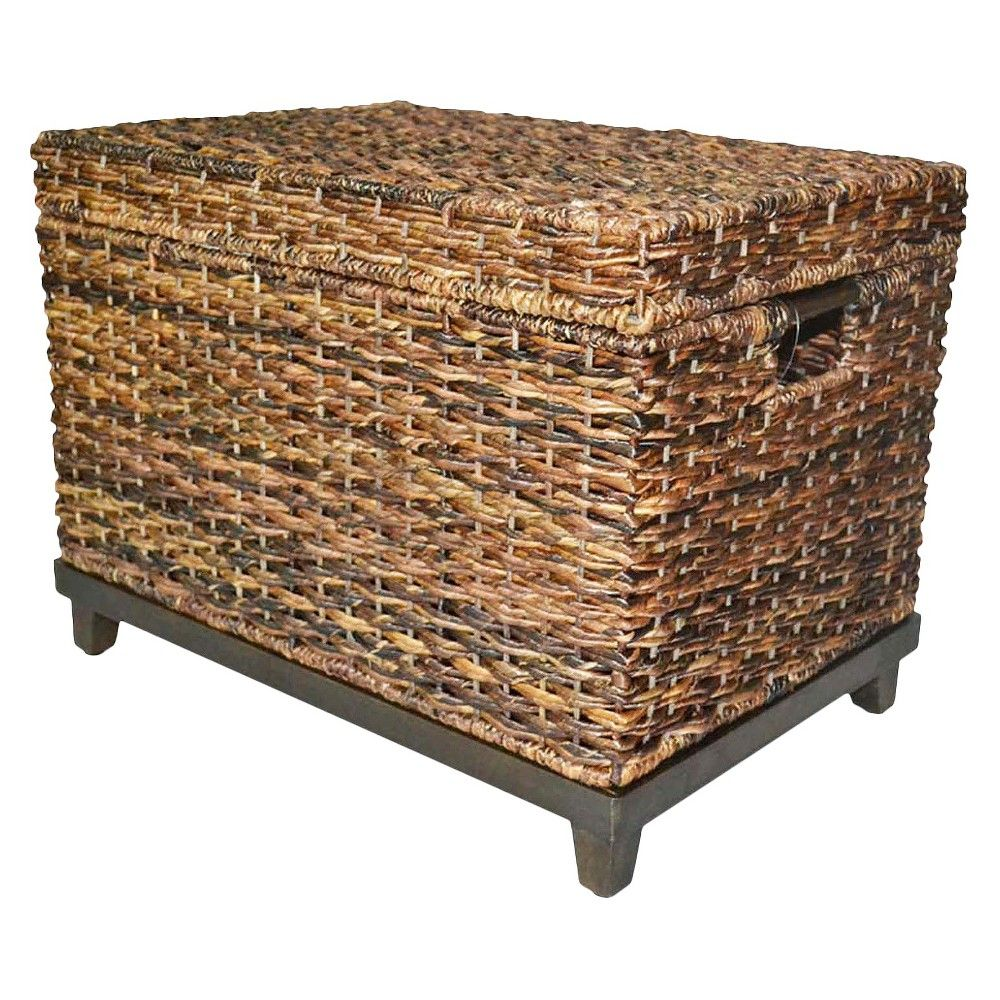 Target Storage Trunk Fair Wicker Large Storage Trunk  Dark Global Brown  Threshold  Storage
