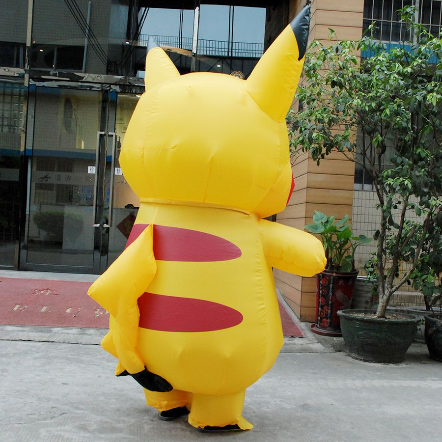 Adult Mascot Pikachu Inflatable Costume Cosplay Halloween Funny Dress Party