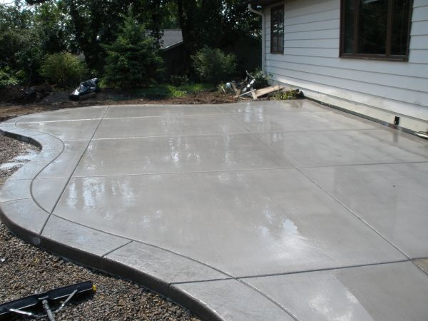 Awesome Concrete Patio With Stamped Border